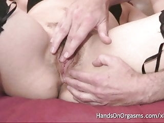 milf fingering close-up