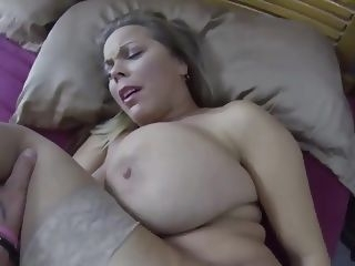 old & young milf creampie